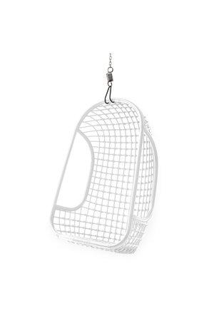 Hanging rattan chair - white