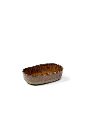 Merci for Serax Merci deep plate no. 8 S ocher / brown