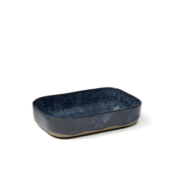 Extra deep plate Merci no. 5 L blue / gray