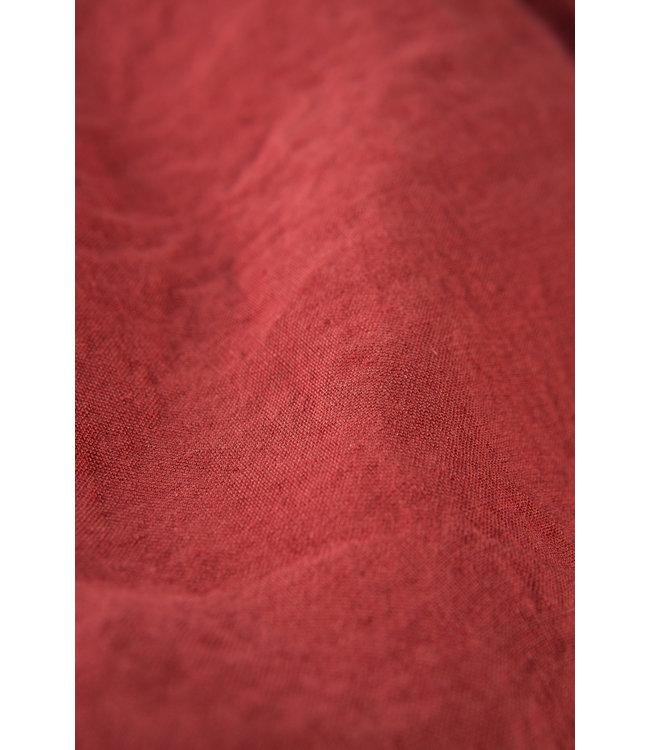 Kussensloop linnen - carmine red