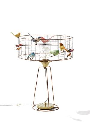 Challières Tambour birdcage lamp