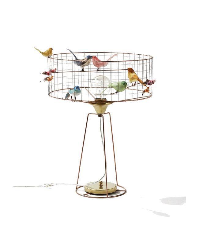 Tambour birdcage lamp