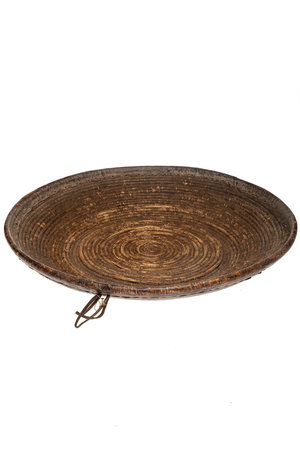Oromo basket with leather #7