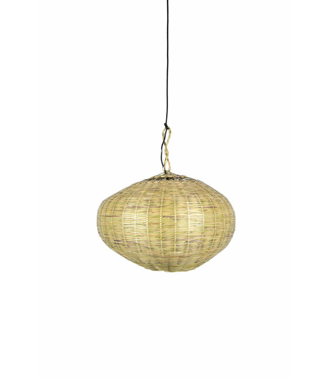 Bamboe hanglamp 'ufo'