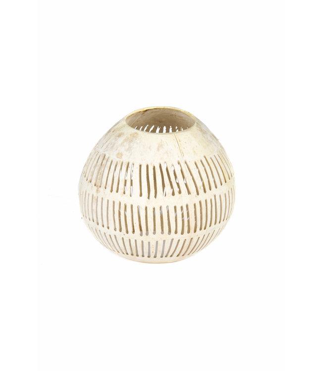White coconut tea light holder