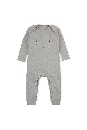 Organic Zoo Playsuit 'bunny' grey