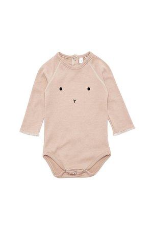 Organic Zoo Bodysuit 'bunny' clay