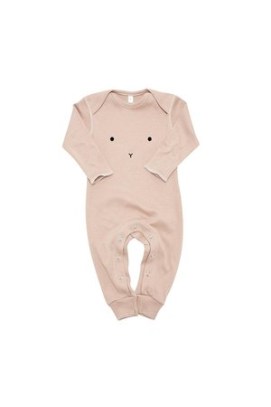 Organic Zoo Playsuit 'bunny' clay
