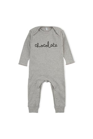 Organic Zoo Playsuit 'chocolate' grey