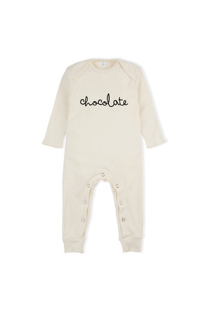 Organic Zoo Playsuit 'chocolate' natural