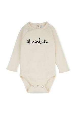 Organic Zoo Bodysuit 'chocolate' natural