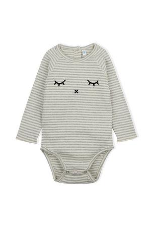 Organic Zoo Bodysuit 'sleepy' grey stripes