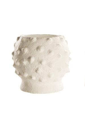 "Big Vase ""Boule Blanc"" terracotta"