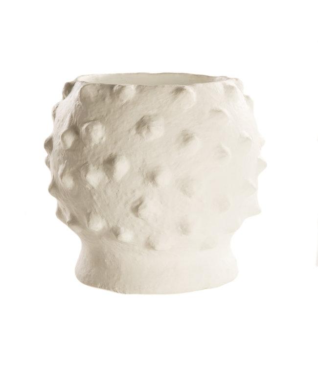 """Grote vaas terracotta """"Boule Blanc"""""""