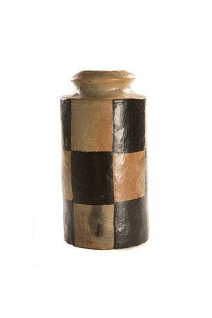 "Grote vaas terracotta ""Pot Damier"""