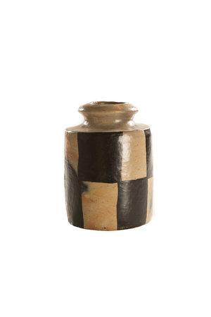 """Vaas terracotta """"Pot Moyen Damier"""""""