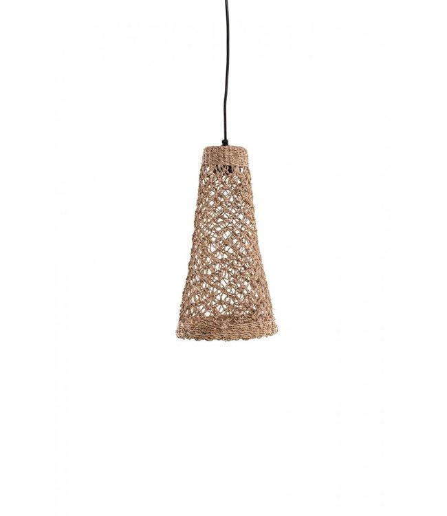 Handgeknoopte bananenvezel hanglamp 'Balbi'