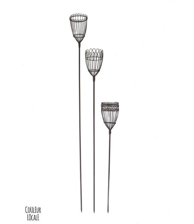 Garden tea light - set of 6