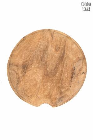 Flat teak plate