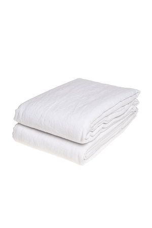 Linge Particulier Flat sheet linen - optic white