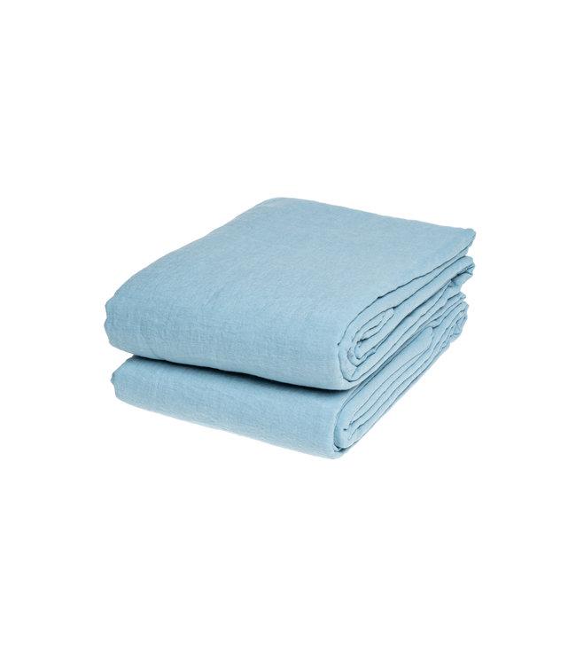 Linge Particulier Flat sheet linen - scandinavian blue