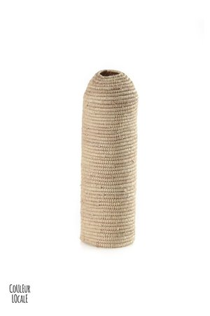 Couleur Locale Bottle holder raffia