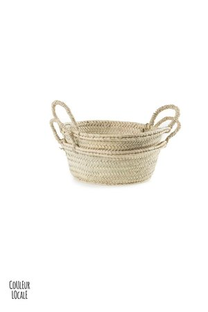 Couleur Locale Woven basket with handles