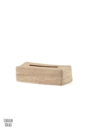 Couleur Locale Tissue holder raffia