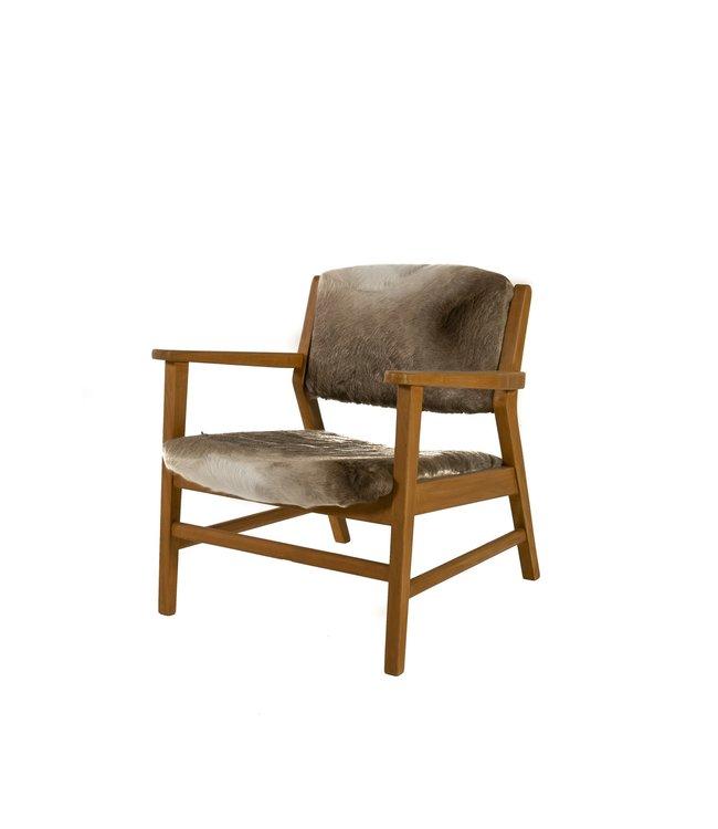 Vintage chair cowskin