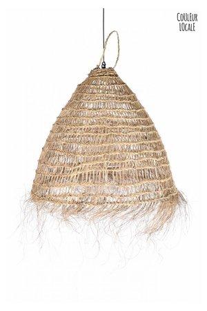 Rock The Kasbah Natural hanging lamp with fringes 'Bonnet'