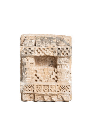 Antique sandstone shrine niche #9