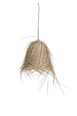 Handmade lampshade palm with fringes
