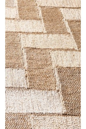 The Dharma Door Jute rug 'Bhola'  natural