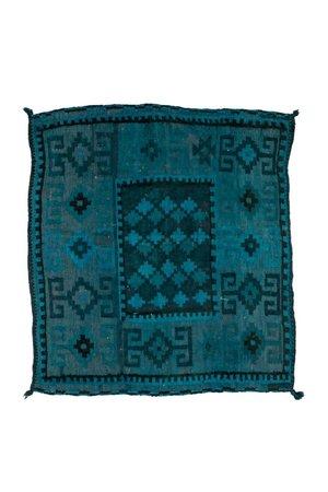 Rug Afghanistan square - blue