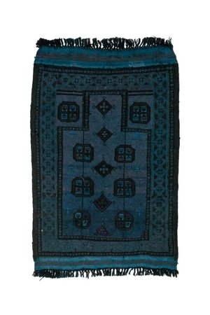 Rug Afghanistan - blue