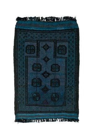 Tapijtje Afghanistan  - blauw