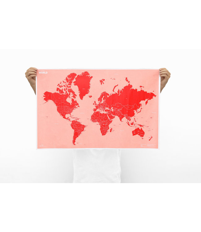 Crumpled world - country