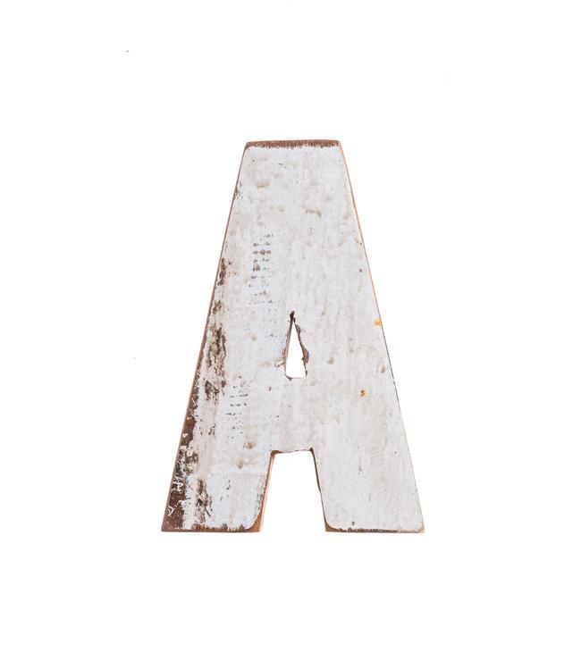 Houten bootletter A