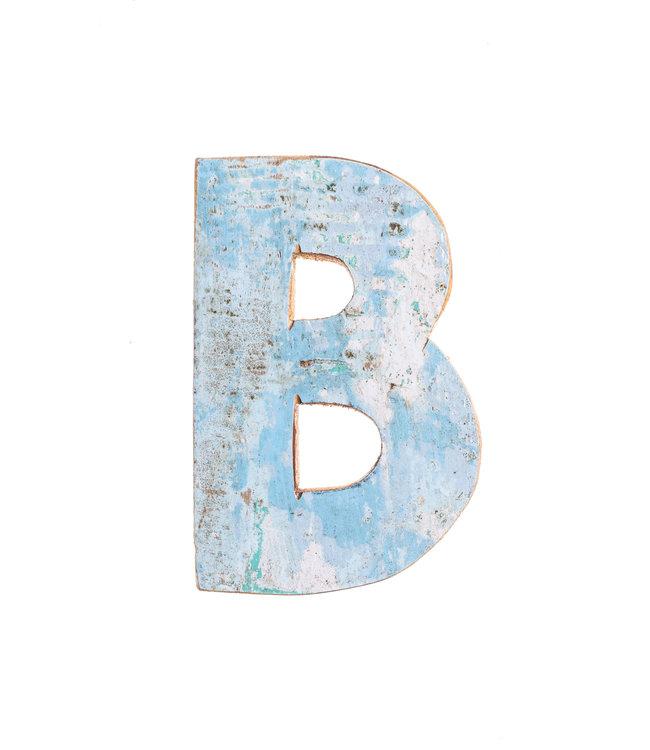 Houten bootletter B