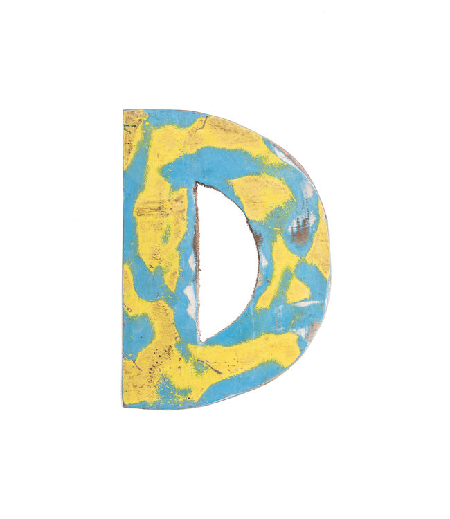 Wooden letter D