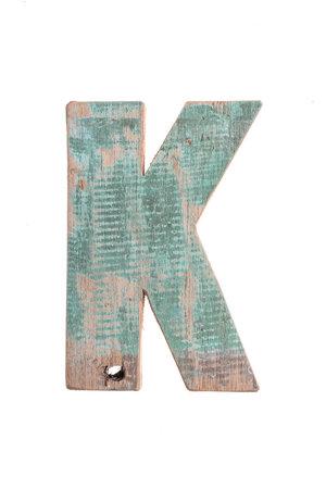 Houten bootletter K