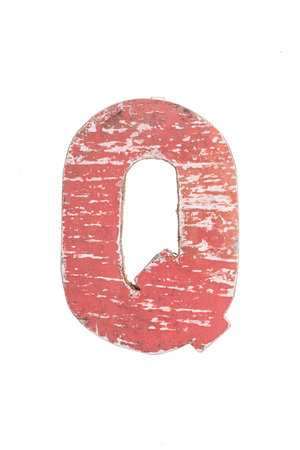 Houten bootletter Q