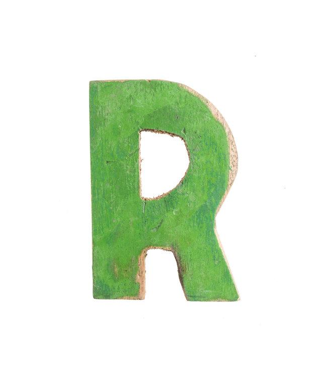 Houten bootletter R