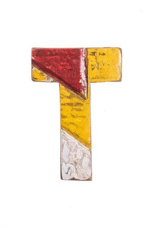 Wooden letter T