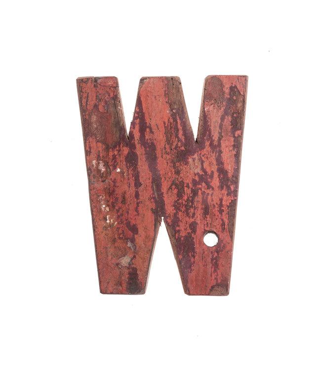Houten bootletter W