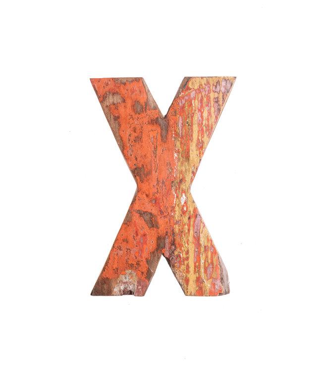 Wooden letter X