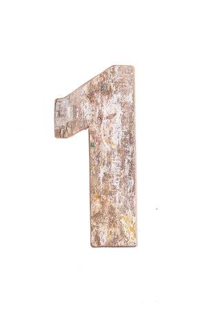 Wooden letter 1