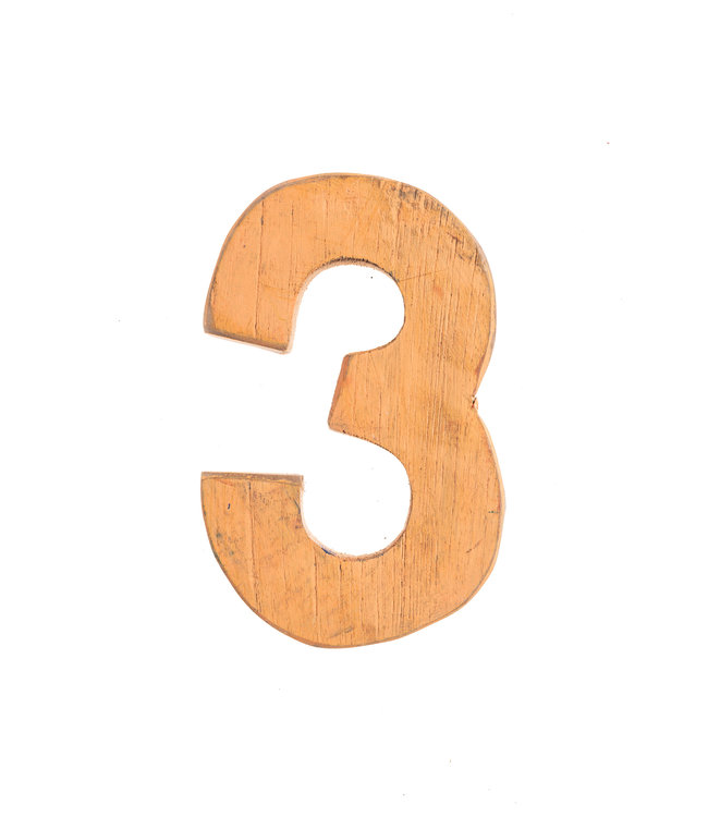 Wooden letter 3