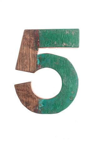 Wooden letter 5
