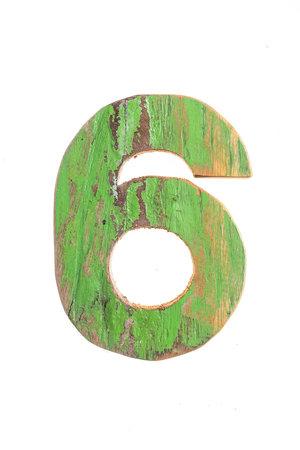 Wooden letter 6